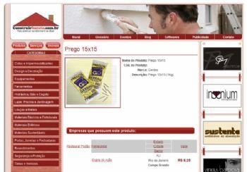 Tela de detalhes dos produtos com os anunciantes.