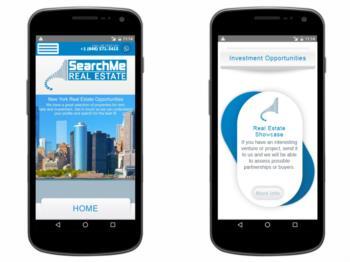 Exemplo da página inicial - versão mobile / responsive.