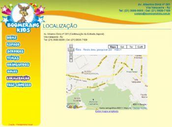 Página de localização.