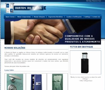 Página de amostra de alguns produtos.