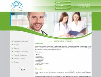 Exemplo de página de conteúdo institucional.