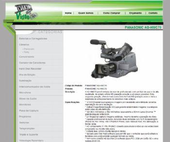 Exemplo de página de detalhes de produtos.