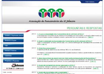 Exemplo de página perguntas e respostas.