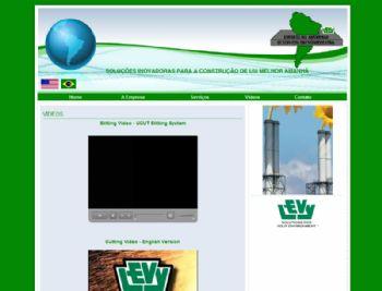 Página de exibição de vídeos em FLASH.